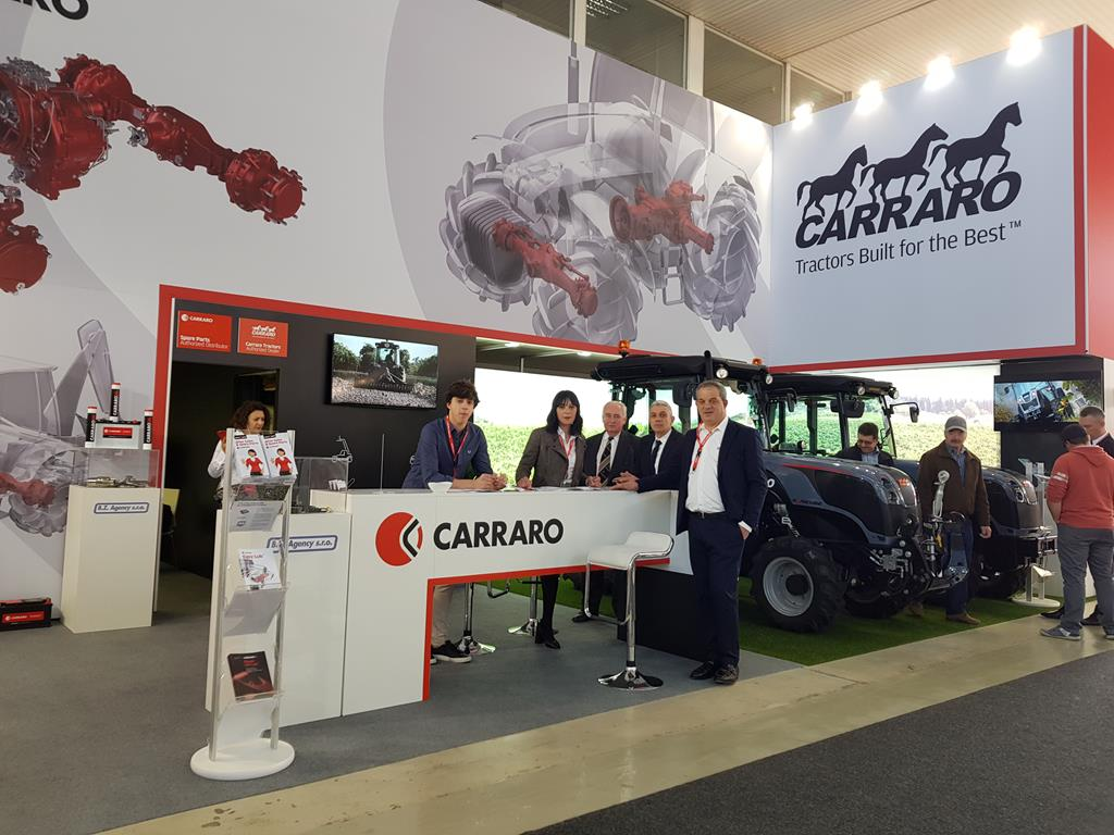 Carraro spare parts and tractors at Techagro fair (April 8-12, 2018)