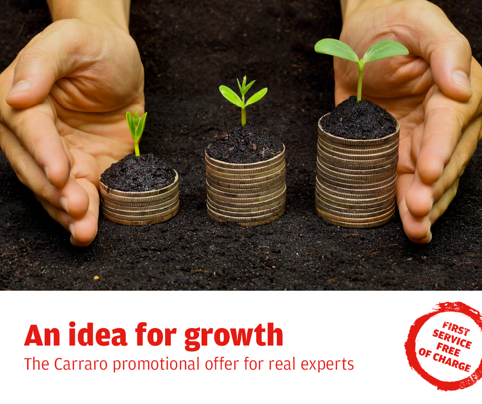 An idea for growth - The Carraro promotional offer for real experts