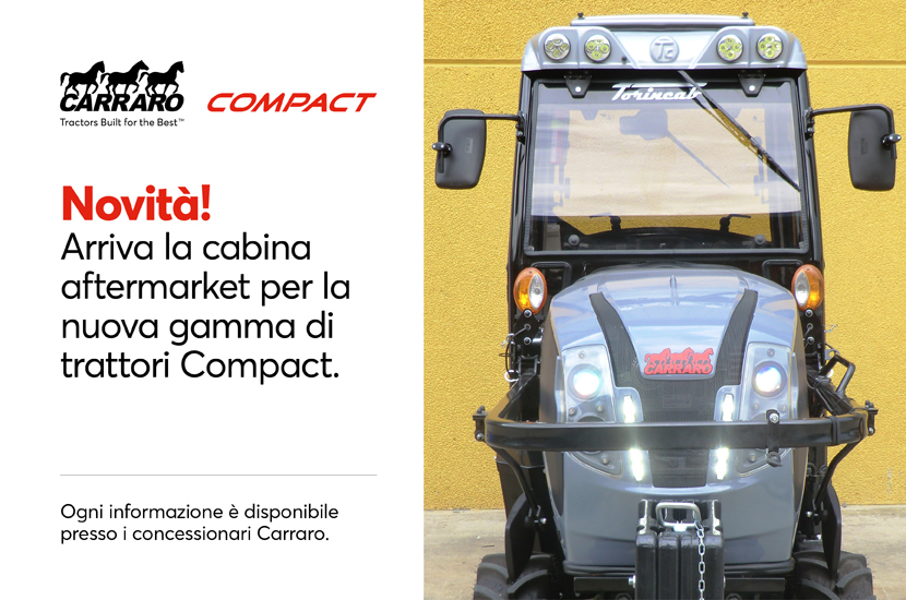 The aftermarket cab for the new Compact tractor range is available